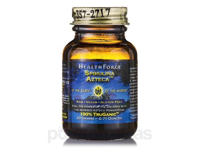 Spirulina Azteca Powder - 0.71 oz (20 Grams) by HealthForce Nutritionals