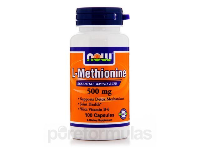 L-Methionine 500 mg - 100 Capsules by NOW