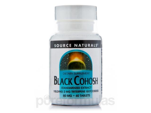 Black Cohosh Extract 80 mg - 60 Tablets by Source Naturals