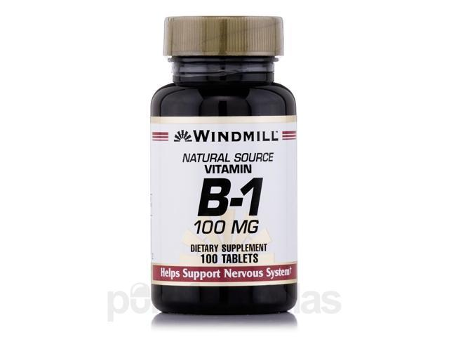 Vitamin B-1 100 mg - 100 Tablets by Windmill