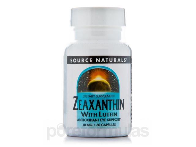 Zeaxanthin with Lutein 10 mg - 30 Capsules by Source Naturals