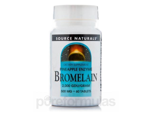 Bromelain 500 mg 2000 GDU - 60 Tablets by Source Naturals