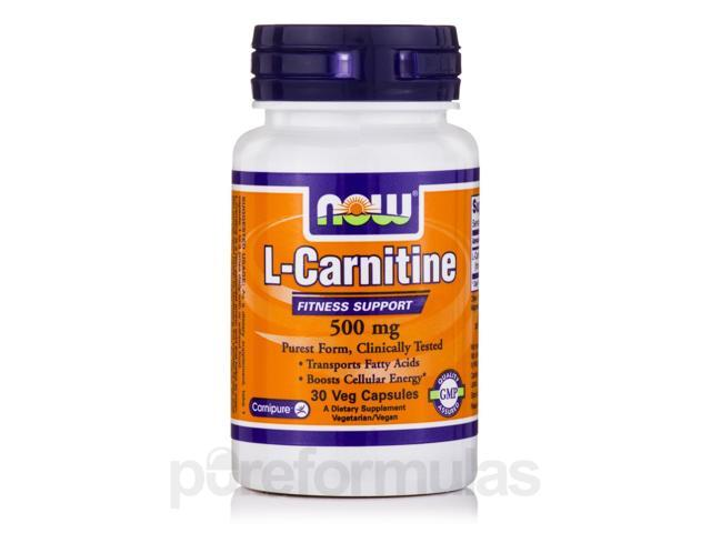 L-Carnitine 500 mg - 30 Veg Capsules by NOW