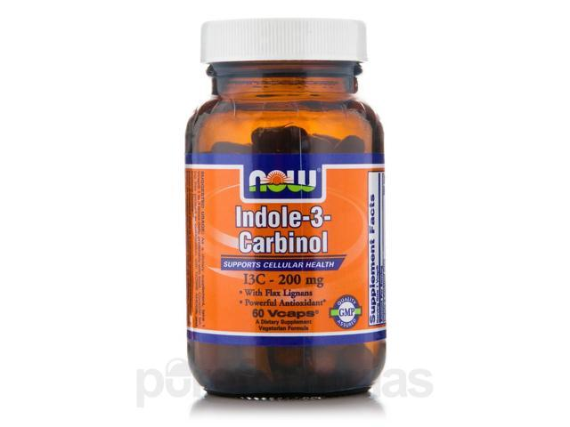 Indole-3-Carbinol (I3C) 200 mg - 60 Veg Capsules by NOW