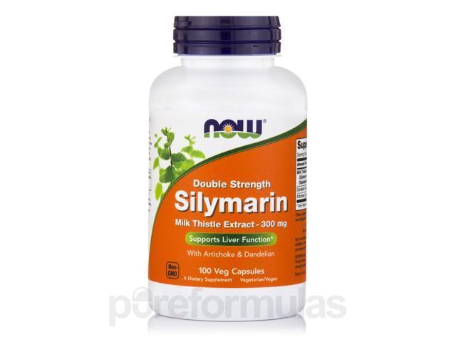 Silymarin 2X -300 mg - 100 Vegetarian Capsules by NOW