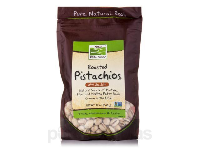 NOW Real Food - Pistachios (Roasted and Salted) - 12 oz (340 Grams) by NOW