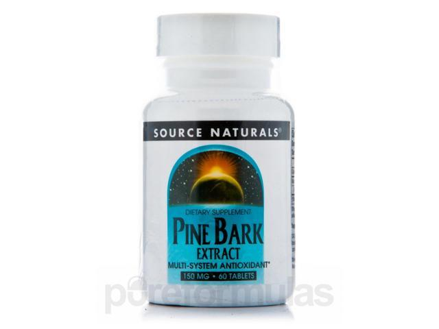 Pine Bark Extract 150 mg - 60 Tablets by Source Naturals