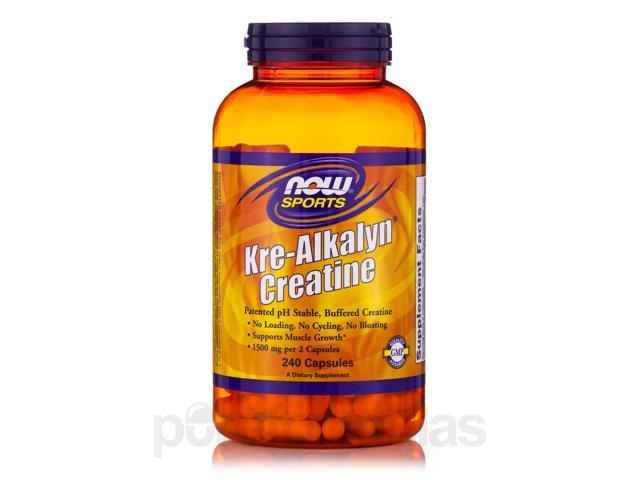 NOW? Sports - Kre-Alkalyn Creatine - 240 Capsules by NOW