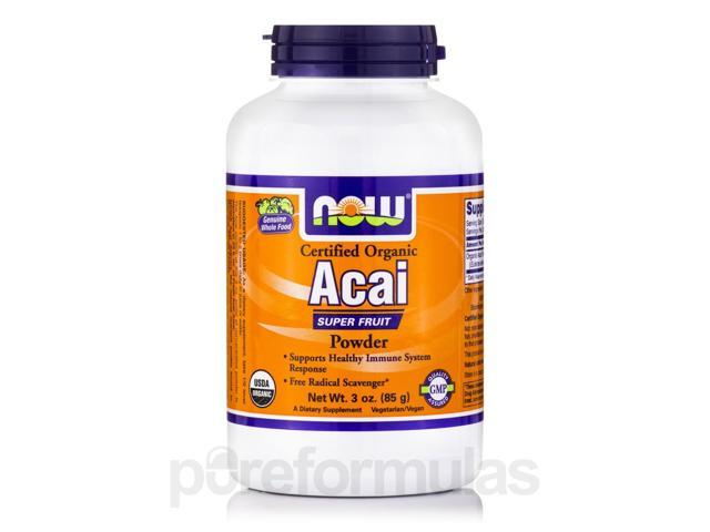 Acai (Organic Powder) - 3 oz (85 Grams) by NOW