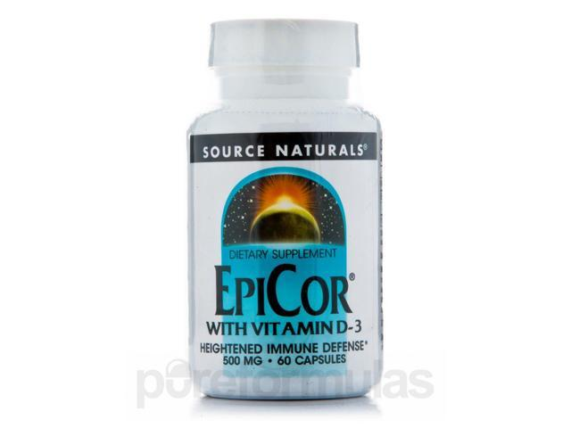 EpiCor with Vitamin D-3 - 60 Capsules by Source Naturals
