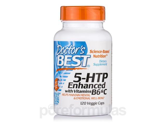 5-HTP Enhanced with Vitamins B6 & C - 120 Veggie Capsules by Doctor's Best