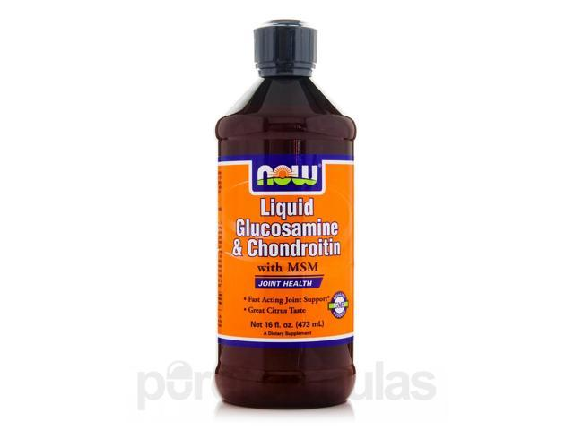 Liquid Glucosamine & Chondroitin with MSM - 16 fl. oz (473 ml) by NOW