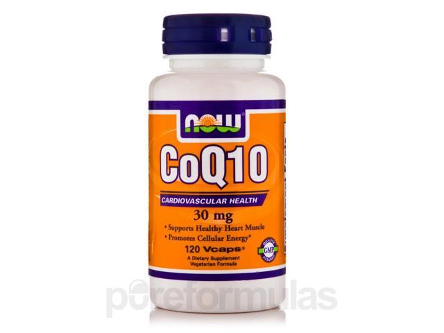 CoQ10 30 mg - 120 Vegetarian Capsules by NOW