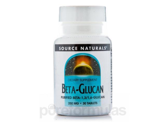 Beta Glucan 250 mg - 30 Tablets by Source Naturals