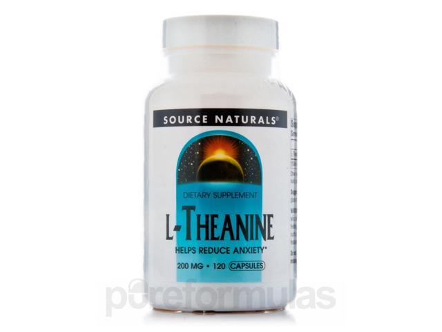 L-Theanine 200 mg - 120 Capsules by Source Naturals