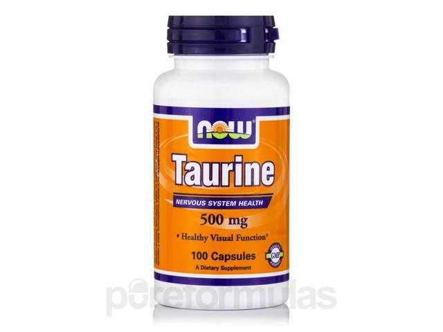 Taurine 500 mg - 100 Capsules by NOW