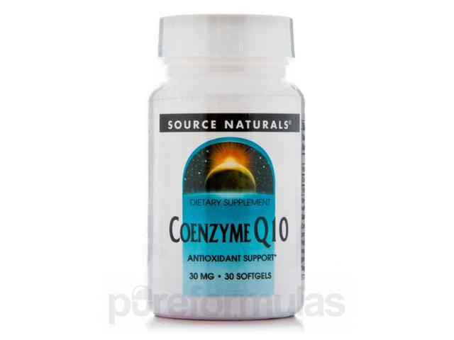 Co-Q10 30 mg - 30 Softgels by Source Naturals