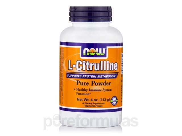 L-Citrulline Pure Powder - 4 oz (113 Grams) by NOW