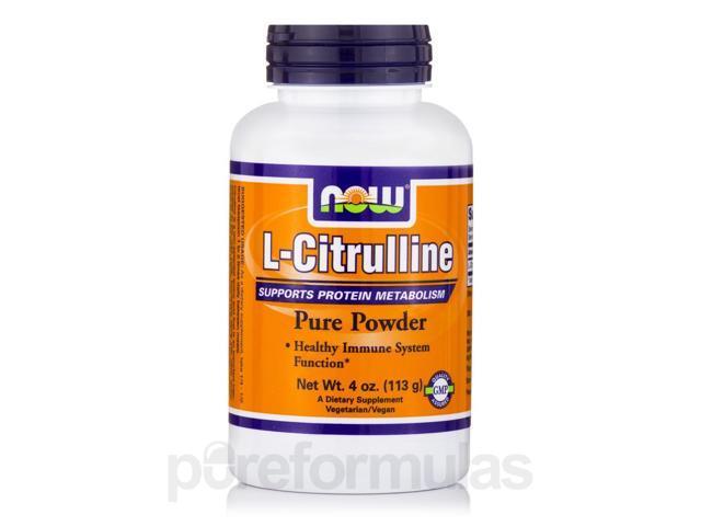 L-Citrulline Pure Powder - 4 oz (113 Grams) by NOW