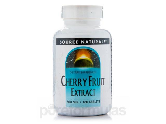 Cherry Fruit Extract 500 mg - 180 Tablets by Source Naturals
