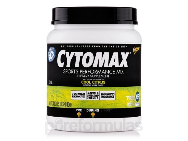 Cytomax? Sports Performance Mix Cool Citrus - 24 oz (1.5 lb / 680 Grams) by Cyto