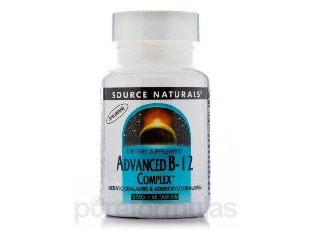 Advanced B-12 Complex 5 mg - 60 Tablets by Source Naturals