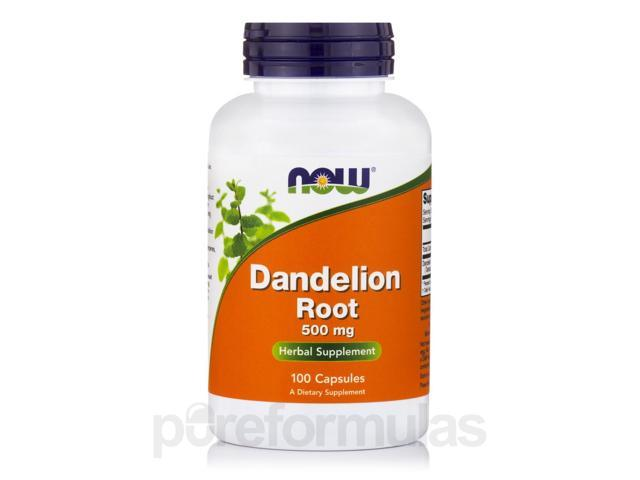 Dandelion Root 500 mg - 100 Capsules by NOW