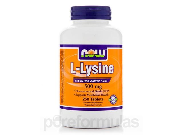 L-Lysine 500 mg - 250 Tablets by NOW