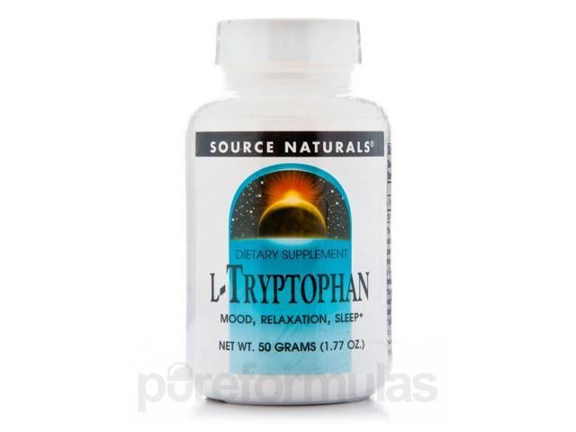 L-Tryptophan Powder - 1.77 oz (50 Grams) by Source Naturals