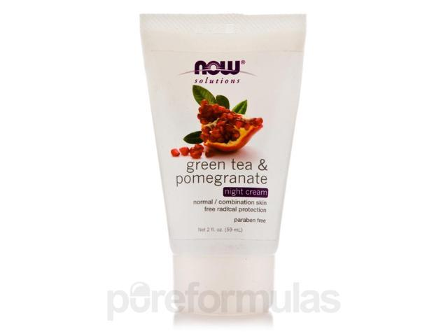 NOW Solutions - Green Tea & Pomegranate Night Cream - 2 fl. oz (59 ml) by NOW