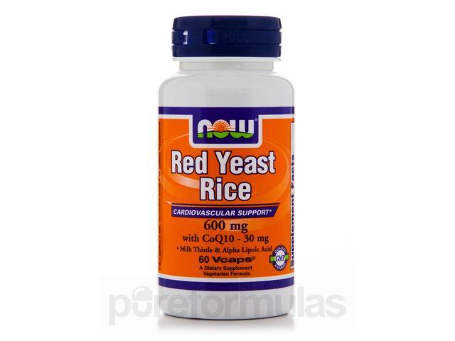 Red Yeast Rice 600 mg with CoQ10 30 mg - 60 Veg Capsules by NOW