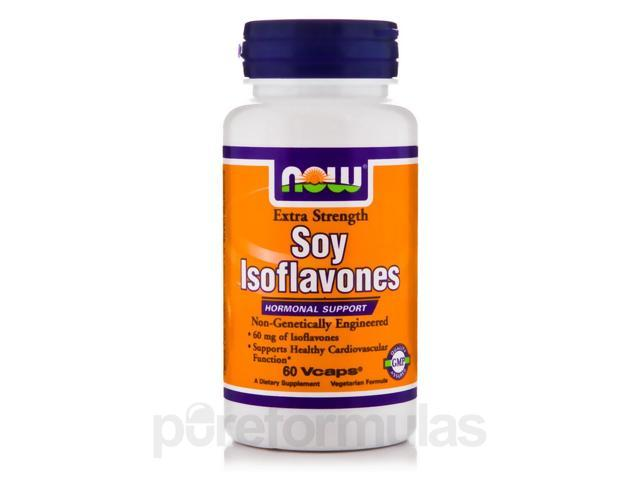 Soy Isoflavones Extra Strength - 60 Vegetarian Capsules by NOW