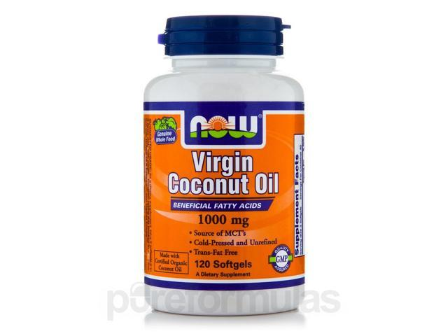 Virgin Coconut Oil 1000 mg - 120 Softgels by NOW