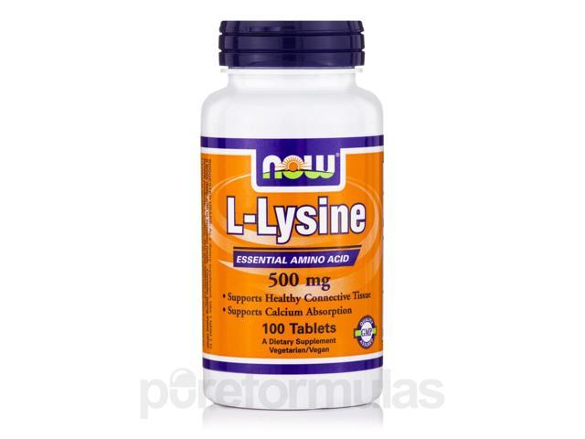 L-Lysine 500 mg - 100 Tablets by NOW