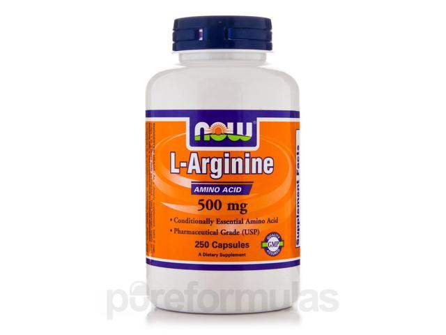 L-Arginine 500 mg - 250 Capsules by NOW