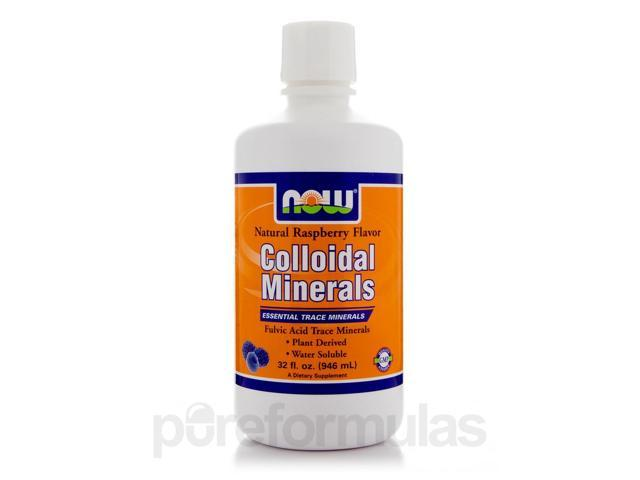 Colloidal Minerals Raspberry - 32 fl. oz (946 ml) by NOW