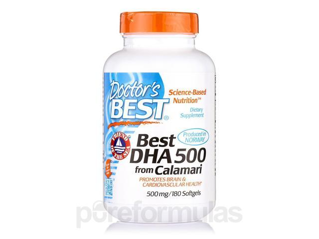 Best DHA from Calamari 500 mg - 180 Softgels by Doctor's Best