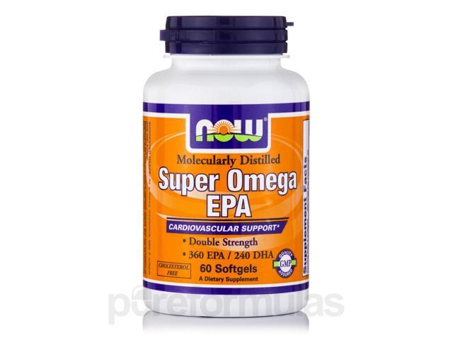 Super Omega EPA (Molecularly Distilled) - 60 Softgels by NOW