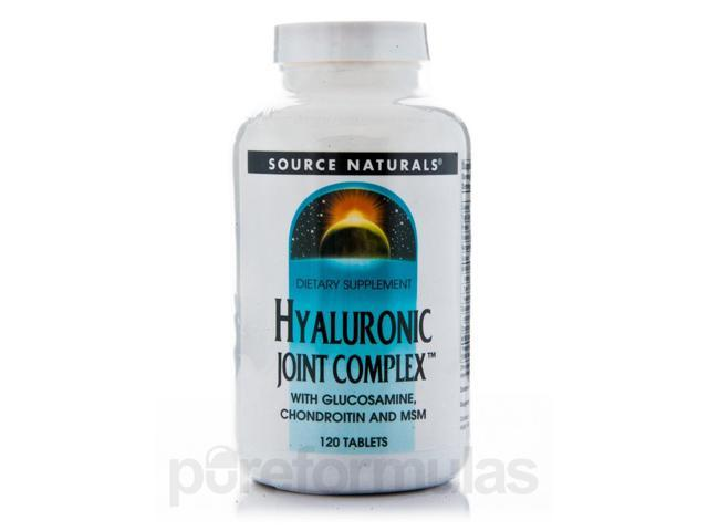 Hyaluronic Joint Complex with Glucosamine, Chondroitin and MSM - 120 Tablets by