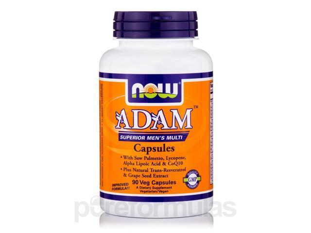 ADAM Superior Men's Multi-Vitamin - 90 Veg Capsules by NOW