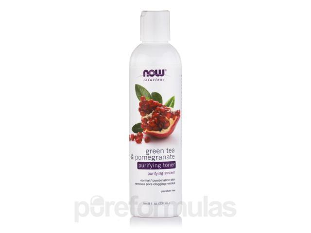 NOW Solutions - Green Tea & Pomegranate Purifying Toner - 8 fl. oz (237 ml) by