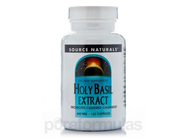 Holy Basil Extract 450 mg - 120 Capsules by Source Naturals