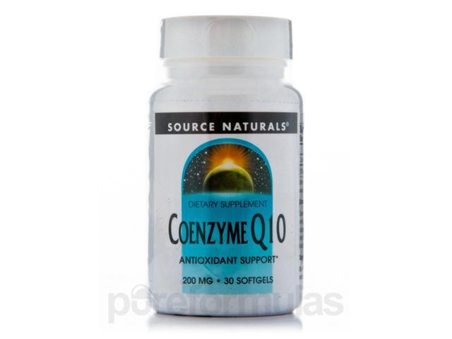 Co-Q10 200 mg - 30 Softgels by Source Naturals