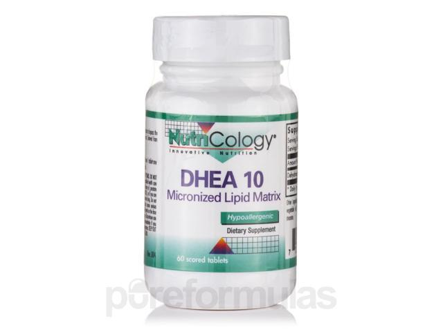 DHEA 10 mg Micronized Lipid Matrix - 60 Score Tablets by NutriCology