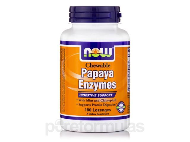 Papaya Enzymes (Chewable) - 180 Lozenges by NOW