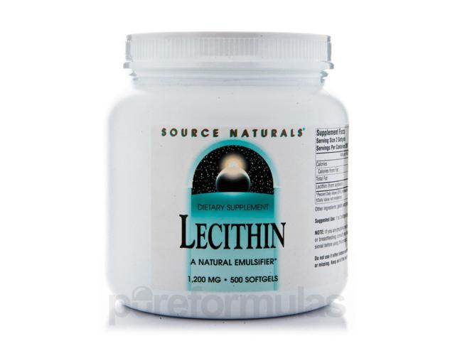 Lecithin 1200 mg - 500 Softgels by Source Naturals