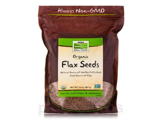 NOW Real Food - Flax Seed - 32 oz (907 Grams) by NOW