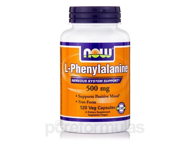 L-Phenylalanine 500 mg - 120 Veg Capsules by NOW