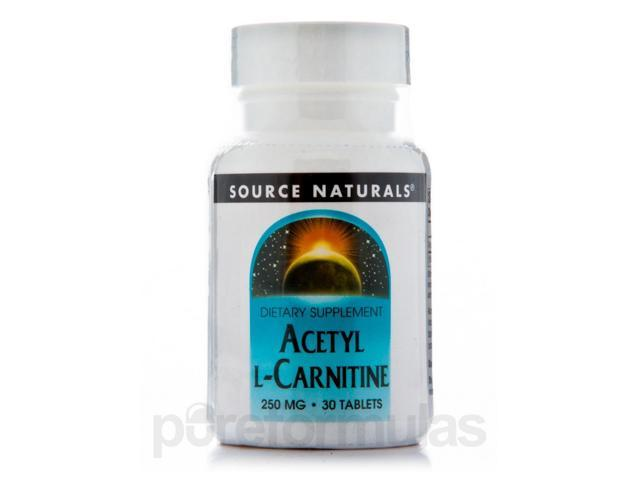 Acetyl L-Carnitine 250 mg - 30 Tablets by Source Naturals