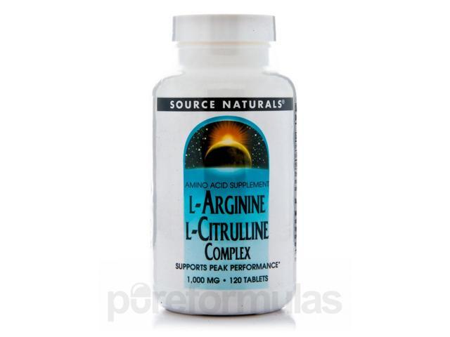 L-Arginine L-Citrulline - 120 Tablets by Source Naturals